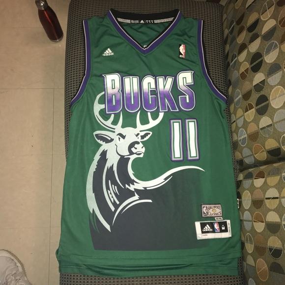 best website cad1c fd325 Monta Ellis Milwaukee Bucks NBA basketball jersey